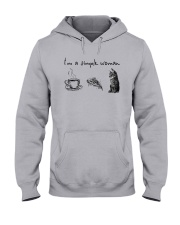 I'm A Simple Woman Tea Pizza Cat Shirt Hooded Sweatshirt thumbnail