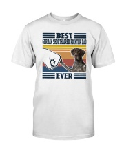 Vintage Best German Shorthaired Pointer Dad Shirt Classic T-Shirt front