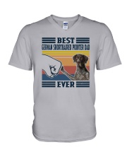 Vintage Best German Shorthaired Pointer Dad Shirt V-Neck T-Shirt thumbnail