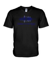 Tell My Family I Love Them Shirt Thin Blue Line V-Neck T-Shirt thumbnail