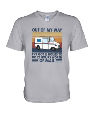 Vintage Out Of My Way Ive Got 8 Hours To Do Shirt V-Neck T-Shirt thumbnail