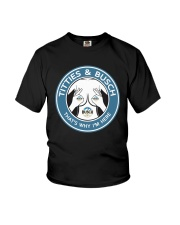 Titties And Busch That's Why I'm Here Shirt Youth T-Shirt thumbnail