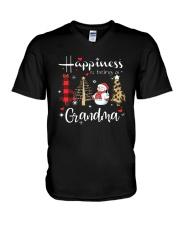 Christmas Happiness Is Being A Grandma Shirt V-Neck T-Shirt thumbnail