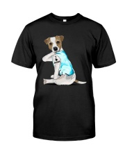 Jack Russell I Love Mom Tattoo Shirt Premium Fit Mens Tee tile