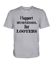 I Support Businesses Not Looters Shirt V-Neck T-Shirt thumbnail