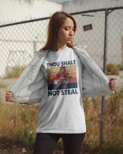 Vintage Thou Shalt Not Steal Shirt Classic T-Shirt apparel-classic-tshirt-lifestyle-07