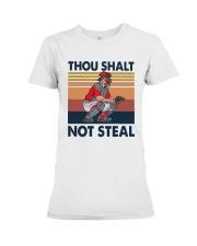 Vintage Thou Shalt Not Steal Shirt Premium Fit Ladies Tee thumbnail