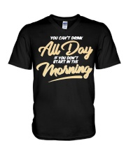 Can T Drink All Day Barstool Shirt V-Neck T-Shirt thumbnail