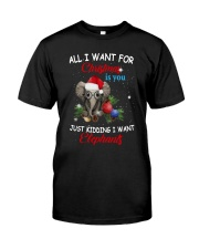 All I Want For Christmas You Just Kidding Shirt Classic T-Shirt front