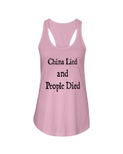 China Lied And People Died Shirt Ladies Flowy Tank thumbnail