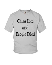 China Lied And People Died Shirt Youth T-Shirt thumbnail