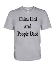 China Lied And People Died Shirt V-Neck T-Shirt thumbnail
