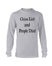 China Lied And People Died Shirt Long Sleeve Tee thumbnail