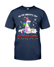 Unicorn On The Naughty List And I Regret Shirt Classic T-Shirt tile