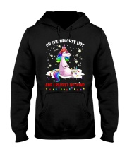 Unicorn On The Naughty List And I Regret Shirt Hooded Sweatshirt thumbnail