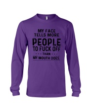 My Face Tell More People To Fuck Off Mouth Shirt Long Sleeve Tee thumbnail