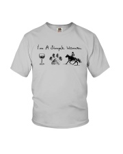 I'm A Simple Woman Like Wine Dog Horse Shirt Youth T-Shirt thumbnail