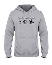 I'm A Simple Woman Like Wine Dog Horse Shirt Hooded Sweatshirt thumbnail
