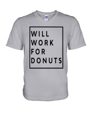 Jeb Bush Will Work For Donuts Shirt V-Neck T-Shirt tile