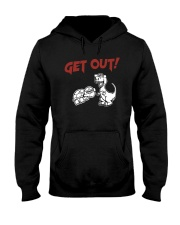 Dinosaur Turtle Cencer Get Out Shirt Hooded Sweatshirt thumbnail