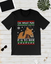 Ugly Christmas Horse Oh What Fun It Is Ride Shirt Classic T-Shirt lifestyle-mens-crewneck-front-17