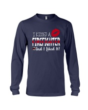 I Kissed A Firefighter And I Liked It Shirt Long Sleeve Tee thumbnail
