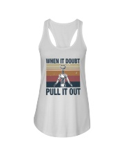 Vintage When It Doubt Pull It Out Shirt Ladies Flowy Tank thumbnail