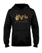 Peace Love And Chickens Shirt Hooded Sweatshirt thumbnail
