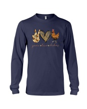 Peace Love And Chickens Shirt Long Sleeve Tee thumbnail
