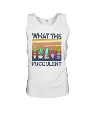 Vintage What The Fucculent Shirt Unisex Tank thumbnail