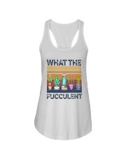 Vintage What The Fucculent Shirt Ladies Flowy Tank thumbnail