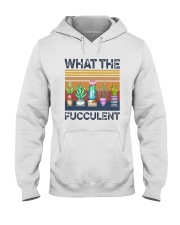 Vintage What The Fucculent Shirt Hooded Sweatshirt thumbnail