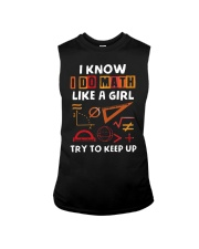 Math Teacher I Know Like Girl Try To Keep Up Shirt Sleeveless Tee thumbnail