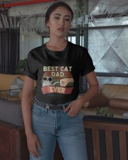 Vintage Best Cat Dad Ever Shirt Classic T-Shirt apparel-classic-tshirt-lifestyle-05