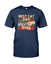 Vintage Best Cat Dad Ever Shirt Classic T-Shirt tile