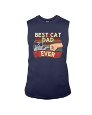 Vintage Best Cat Dad Ever Shirt Sleeveless Tee thumbnail