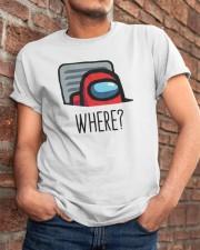 Among Us Where Shirt Classic T-Shirt apparel-classic-tshirt-lifestyle-26