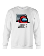 Among Us Where Shirt Crewneck Sweatshirt thumbnail
