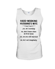 Hard Working Husband's Wife Yes Hes Working Shirt Unisex Tank thumbnail