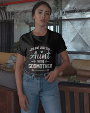 Floral I'm Not Just The Aunt I'm Godmother Shirt Classic T-Shirt apparel-classic-tshirt-lifestyle-05