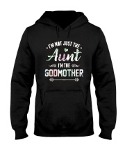 Floral I'm Not Just The Aunt I'm Godmother Shirt Hooded Sweatshirt thumbnail