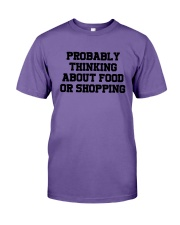 Probably Thinking About Food Or Shopping Shirt Premium Fit Mens Tee tile