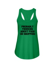 Probably Thinking About Food Or Shopping Shirt Ladies Flowy Tank tile