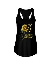 Sunflower She Keeps Me Wild Shirt Ladies Flowy Tank thumbnail