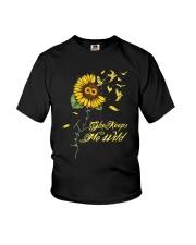 Sunflower She Keeps Me Wild Shirt Youth T-Shirt thumbnail
