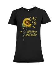 Sunflower She Keeps Me Wild Shirt Premium Fit Ladies Tee thumbnail