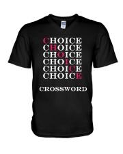 T Shirt Choice Crossword V-Neck T-Shirt thumbnail