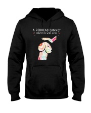A Redhead Cannot Survive On Wine Alone Shirt Hooded Sweatshirt thumbnail