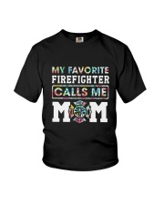 Floral My Favorite Firefighter Calls Me Mom Shirt Youth T-Shirt thumbnail