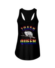 Lgbt Opossum Trash Queen Shirt Ladies Flowy Tank thumbnail